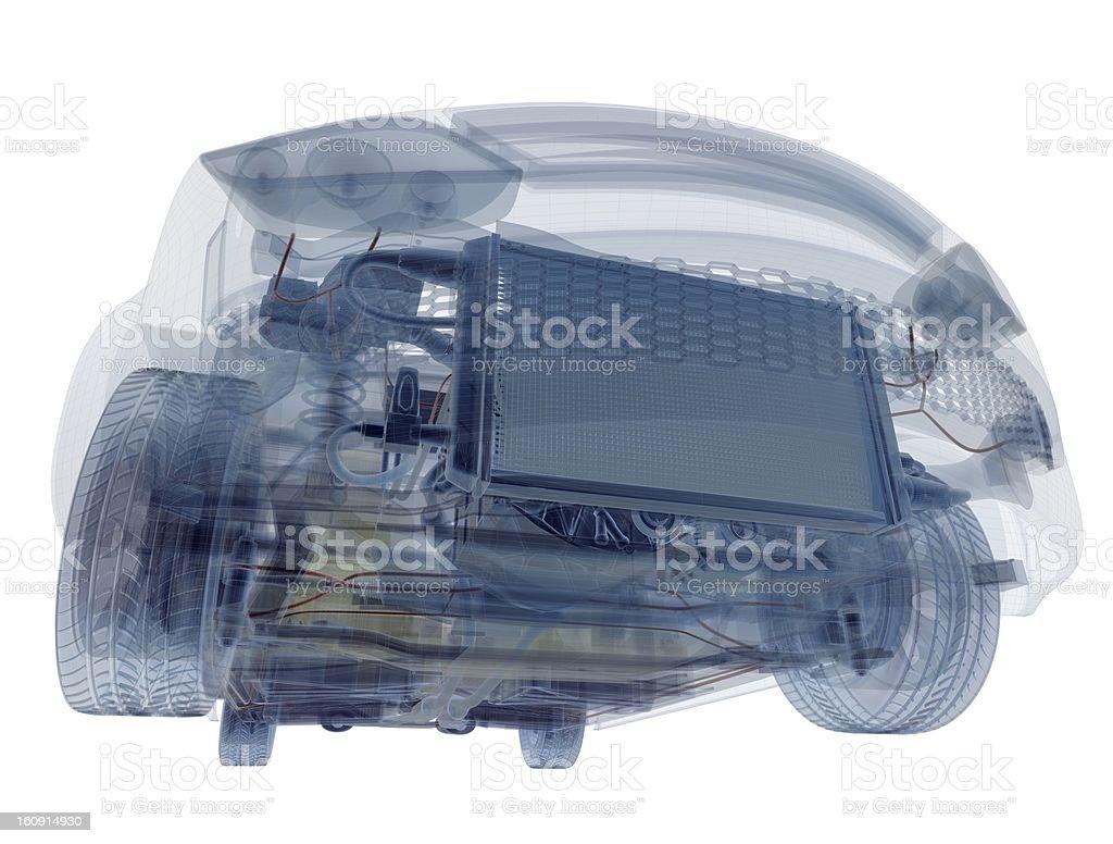Wireframe Car royalty-free stock photo