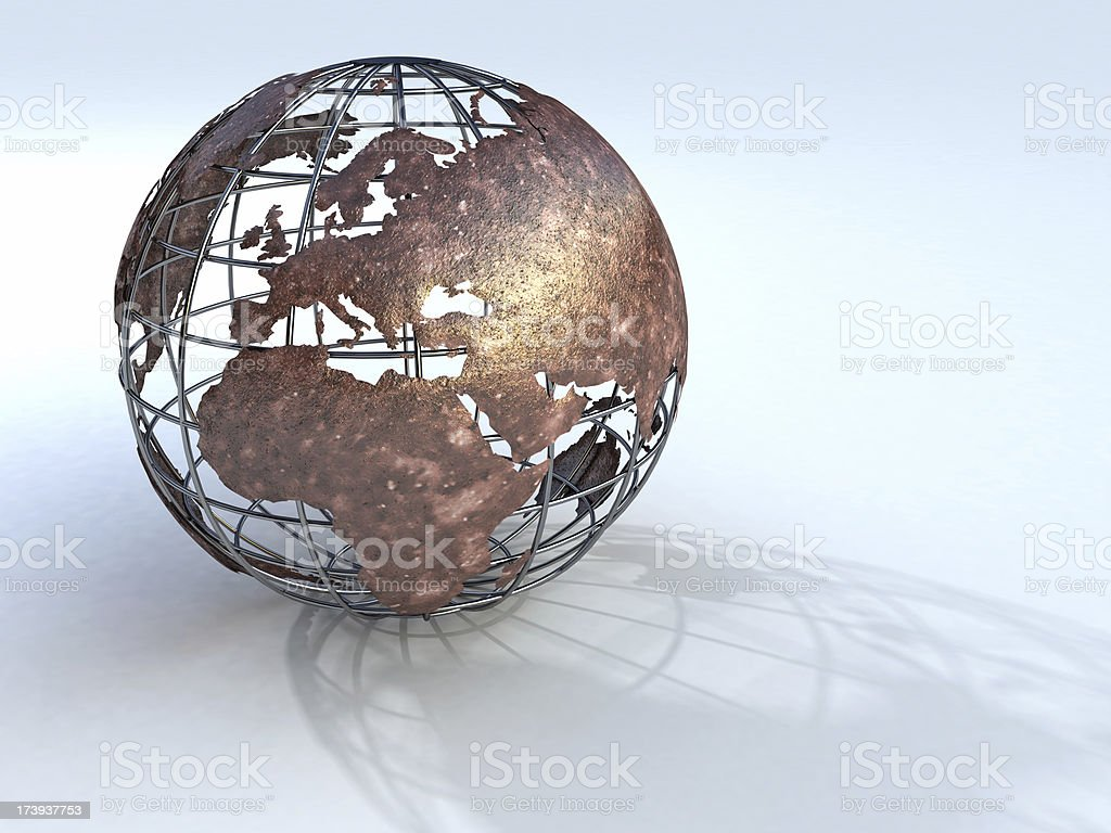 Wireframe earth stock photo