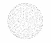 Wireframe - Geosphere - Low Polygon Count
