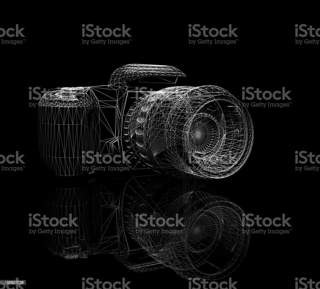 wireframed camera stock photo