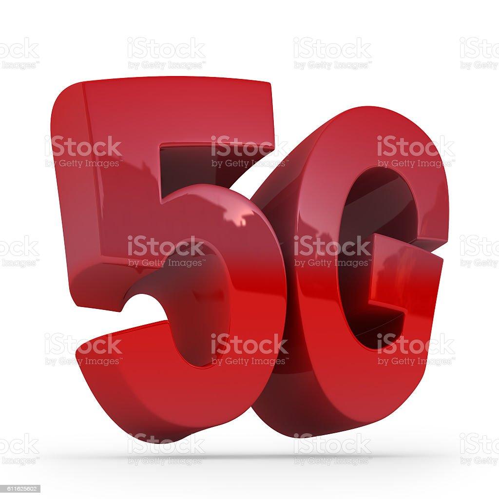 Wireless 5G communication technology symbol stock photo