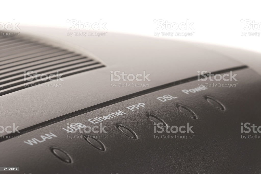 Wireless ADSL Modem royalty-free stock photo