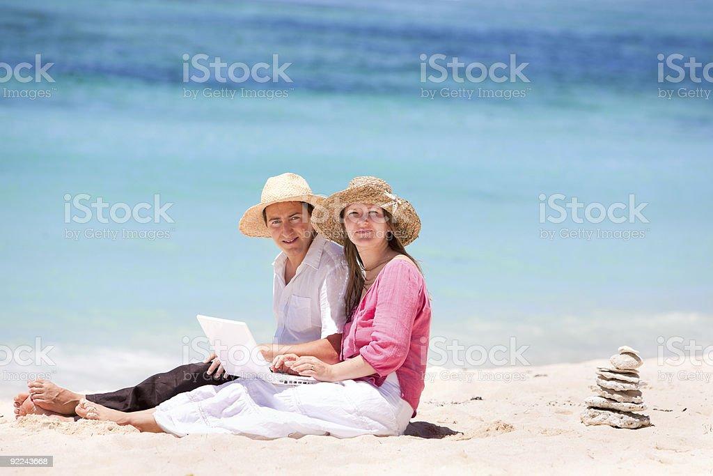 Wireless beach access royalty-free stock photo