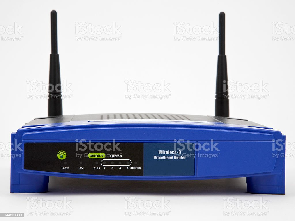Wireless Broadband Router royalty-free stock photo