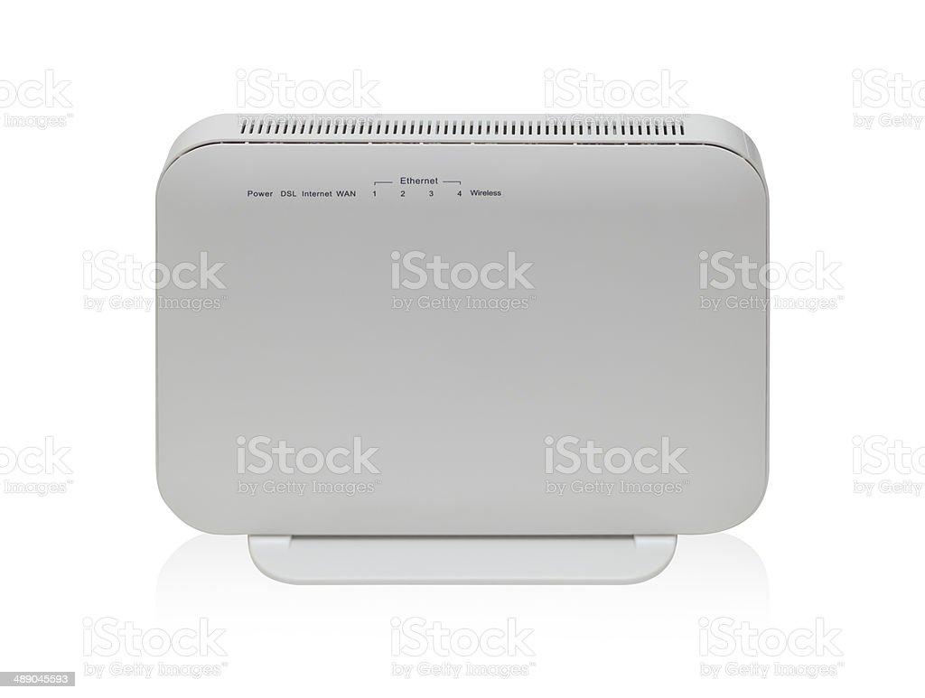wireless broadband router stock photo