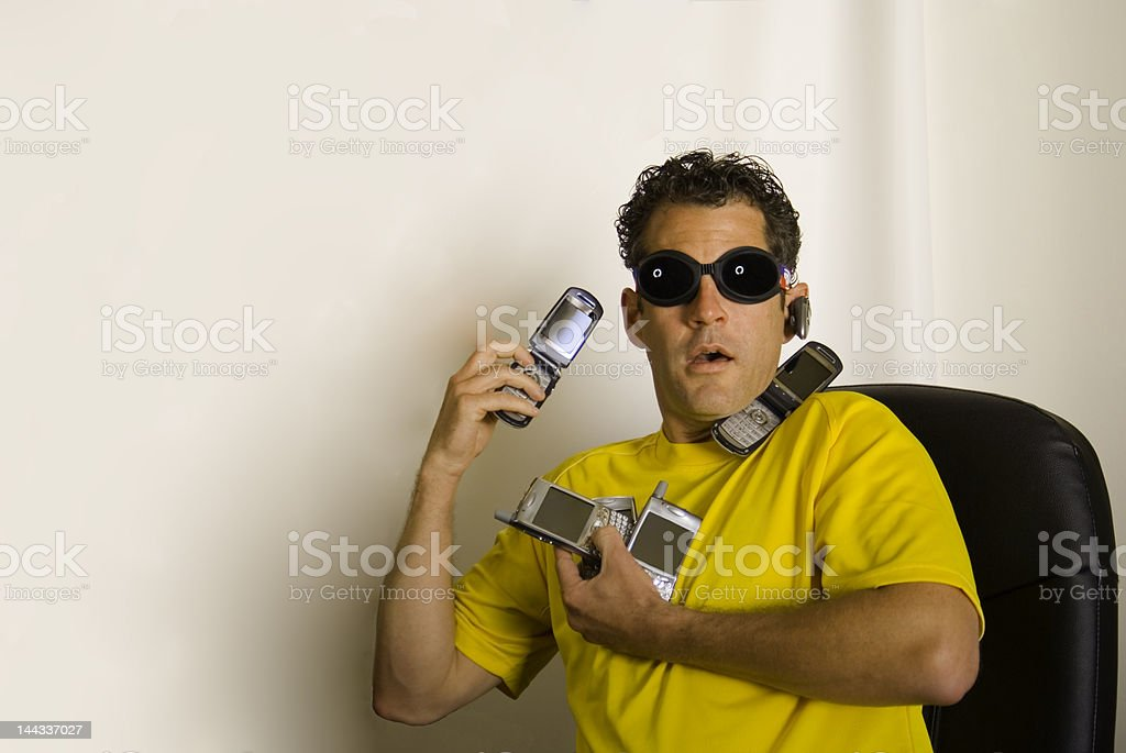 Wireless Caller stock photo