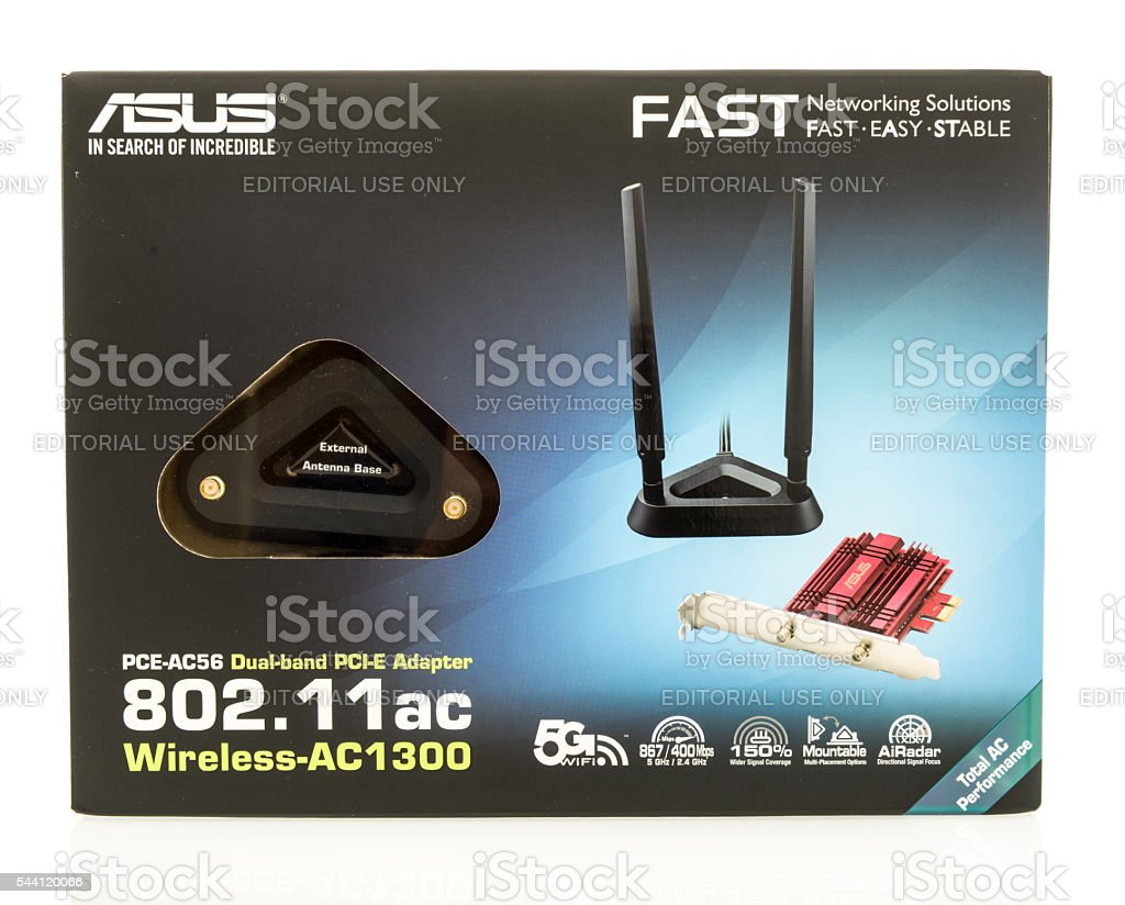 ASUS wireless card stock photo