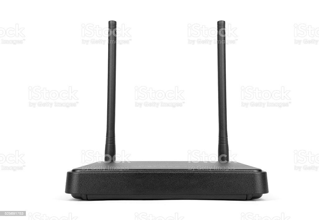 Wireless CDMA router isolated on white. stock photo