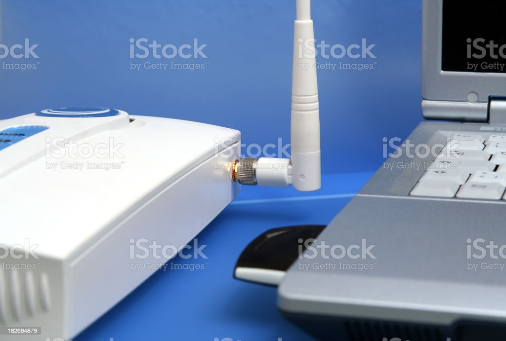 Wireless communication stock photo
