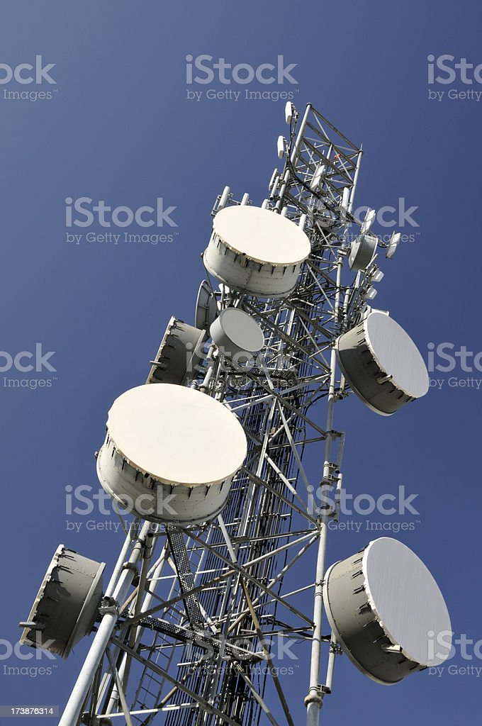 Wireless Communication Tower royalty-free stock photo