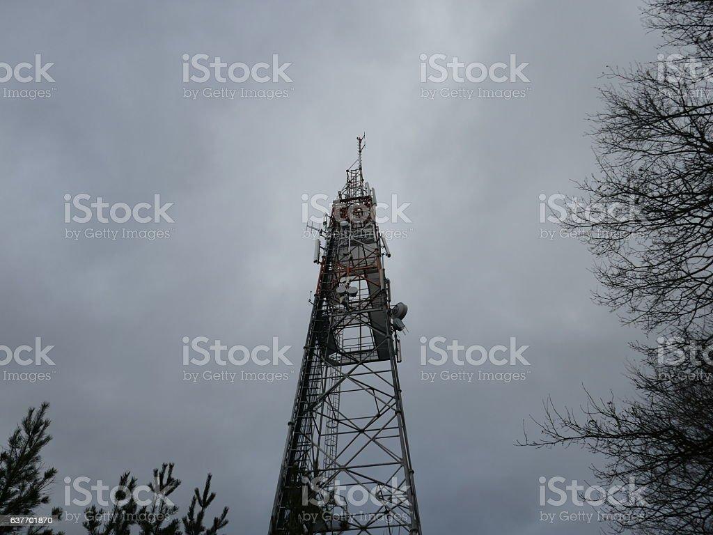 Wireless Communication Tower stock photo