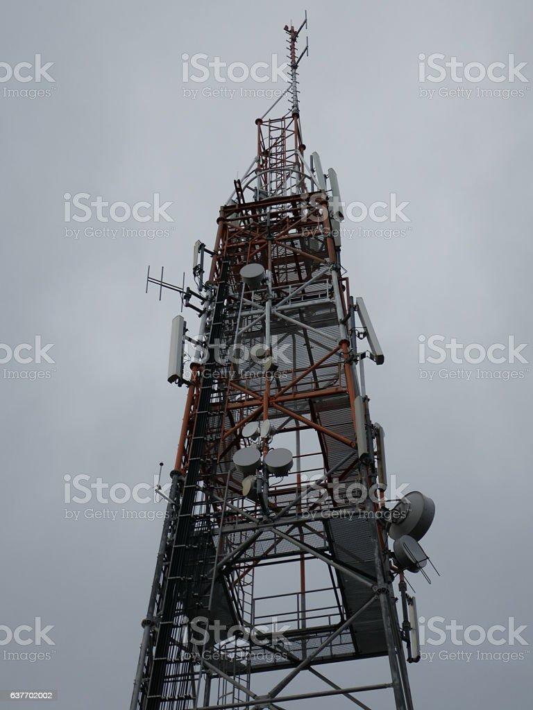 Wireless Communications Tower stock photo