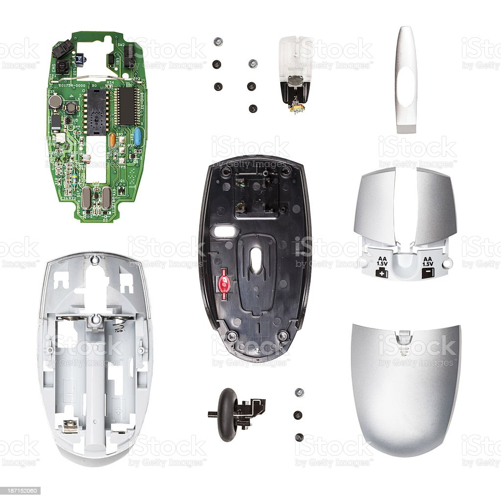 Wireless computer mouse royalty-free stock photo