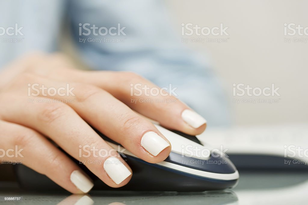 Wireless computer mouse. stock photo
