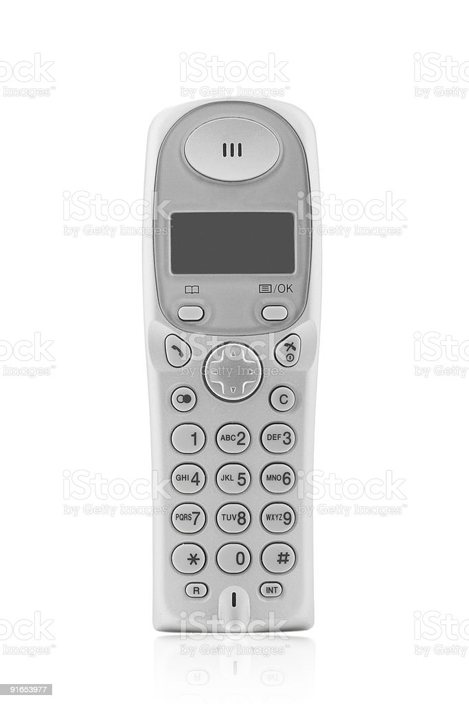 wireless dect phone royalty-free stock photo