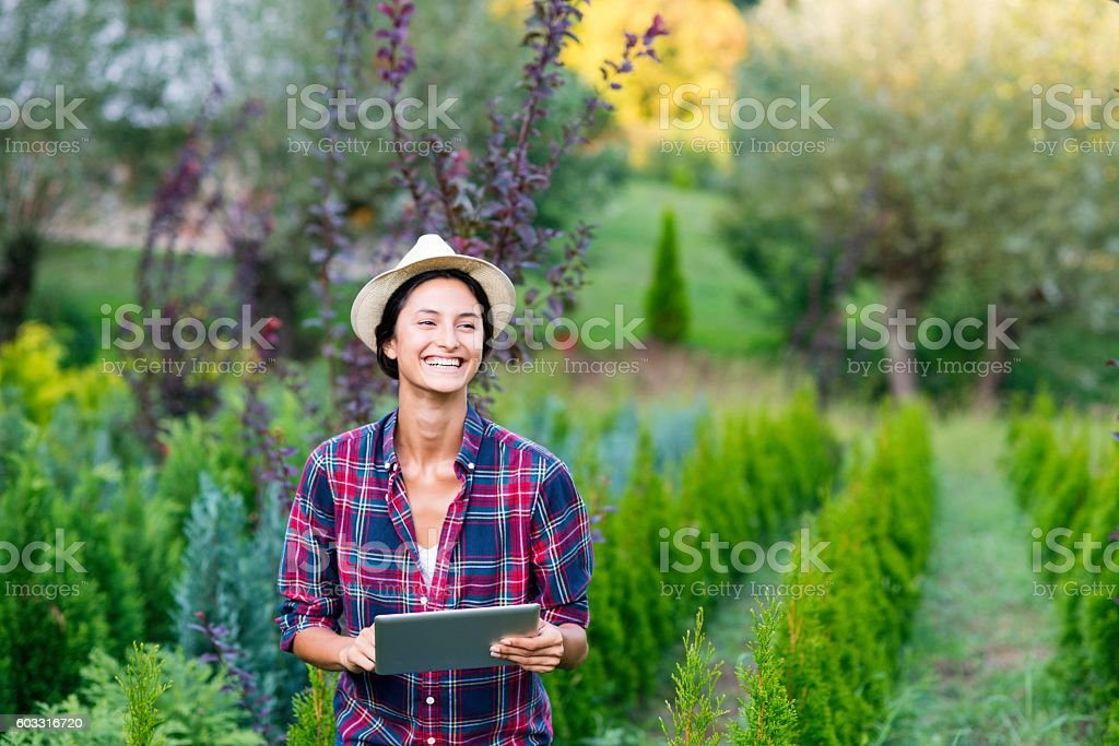 Wireless gardening gadget stock photo