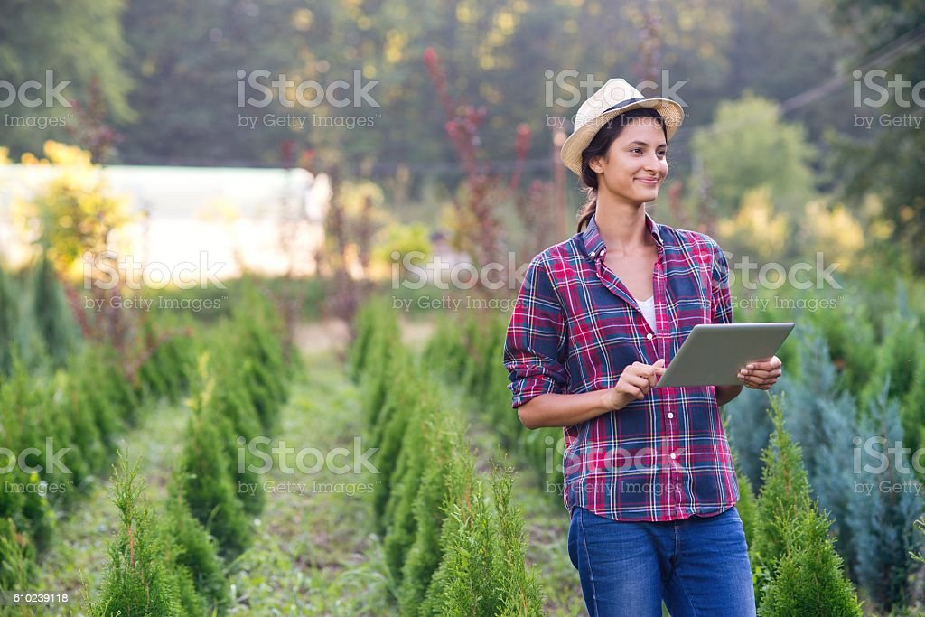 Wireless gardening gadget stock photo