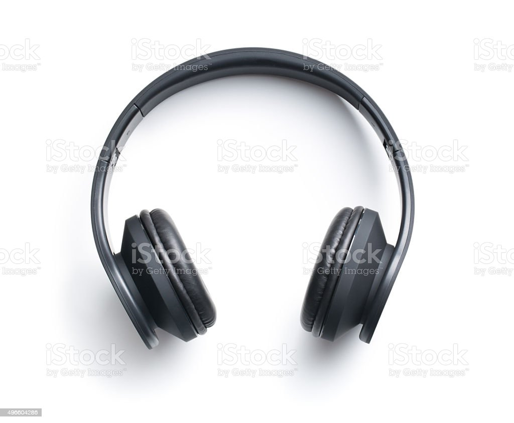 Wireless headphones stock photo