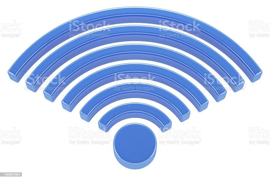 3D wireless icon royalty-free stock photo