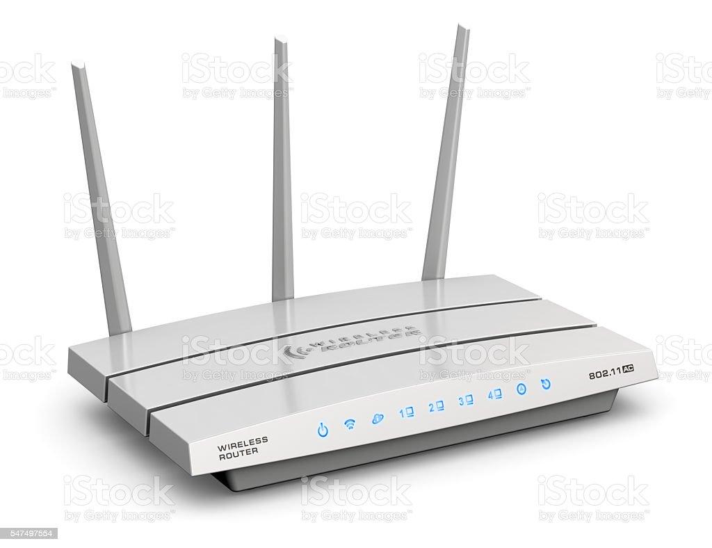 Wireless internet router stock photo
