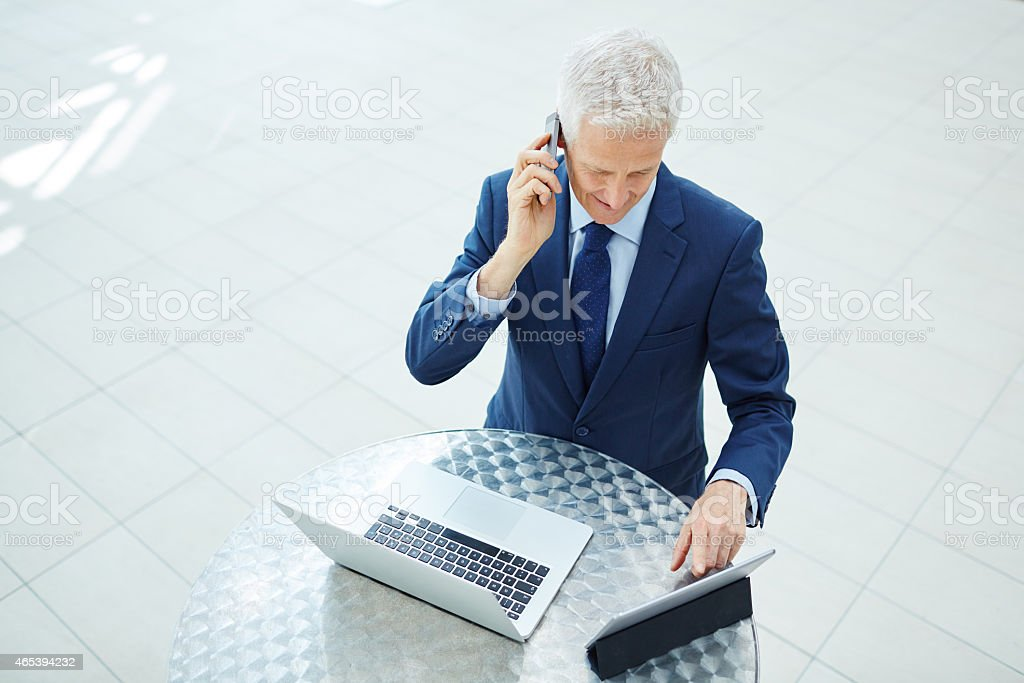 Wireless is the way to go stock photo