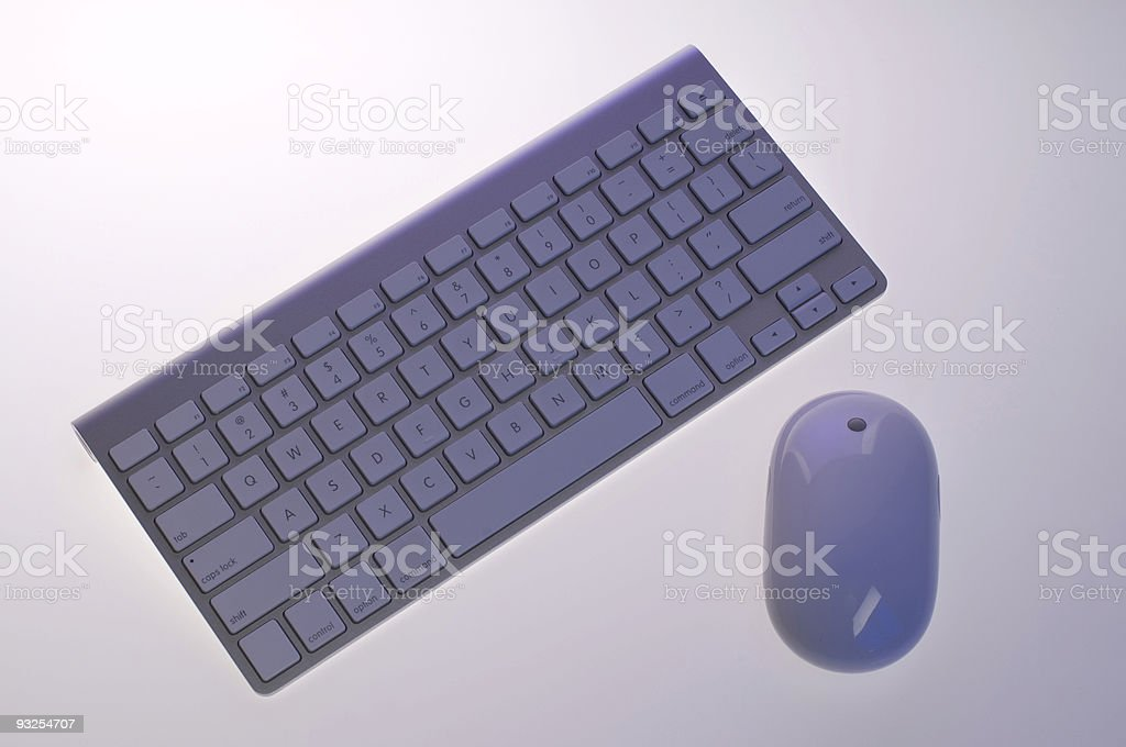Wireless Keyboard and Mouse royalty-free stock photo