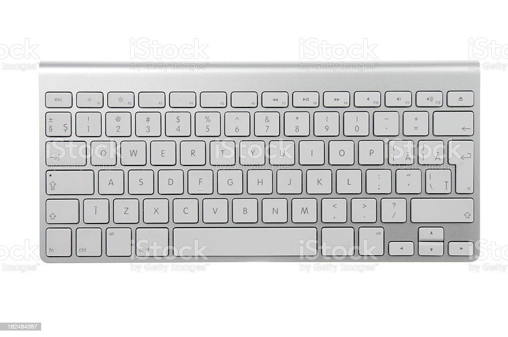 Wireless keyboard stock photo