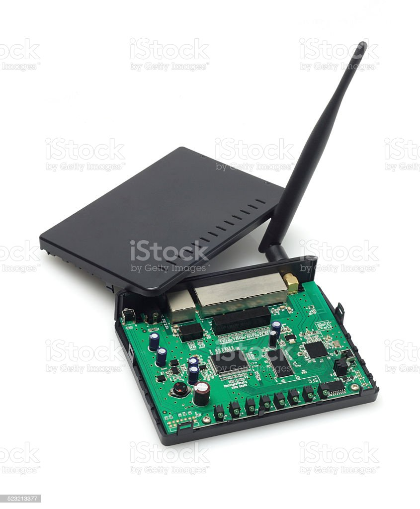 Wireless Modem stock photo