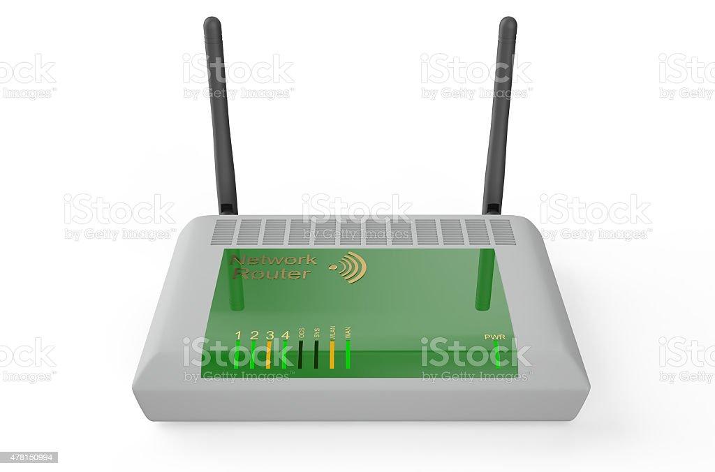 Wireless modem/router stock photo