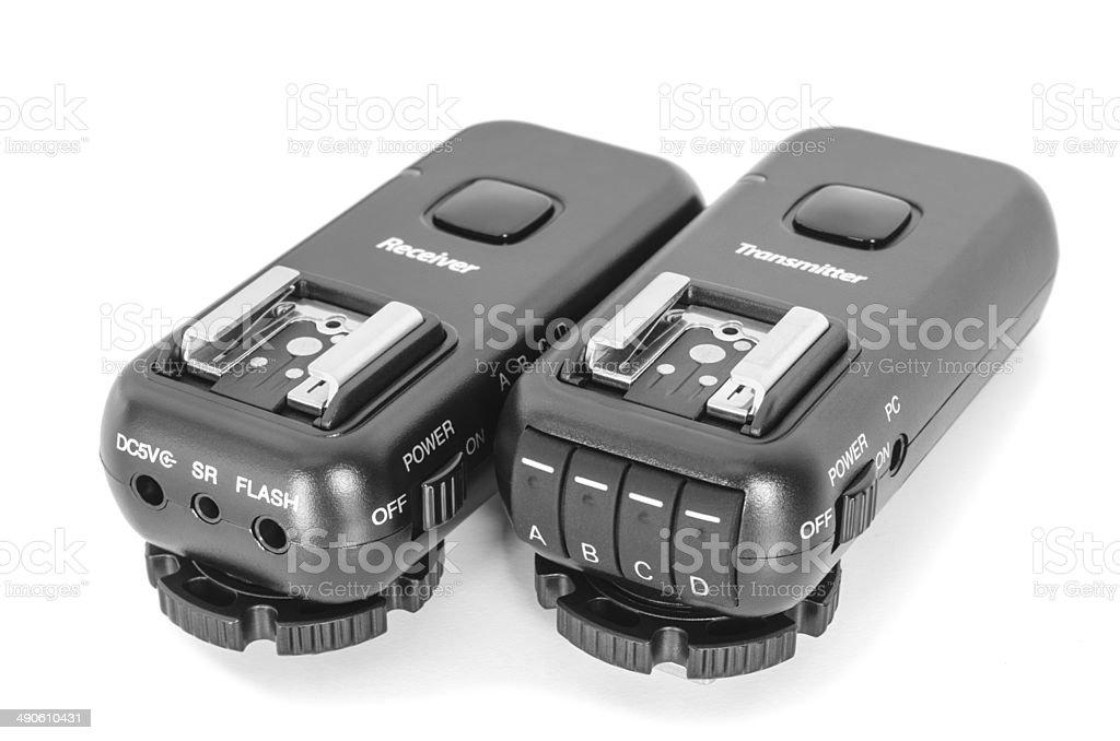 Wireless multichannel radio trigger set stock photo