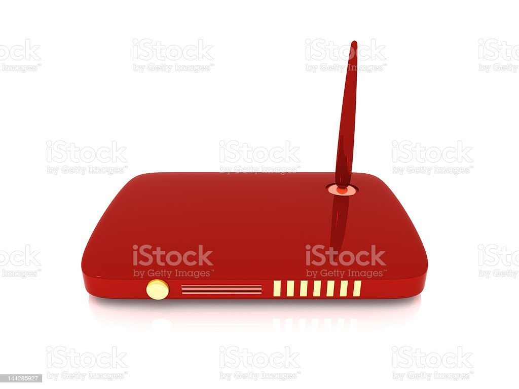 Wireless Network Router royalty-free stock photo