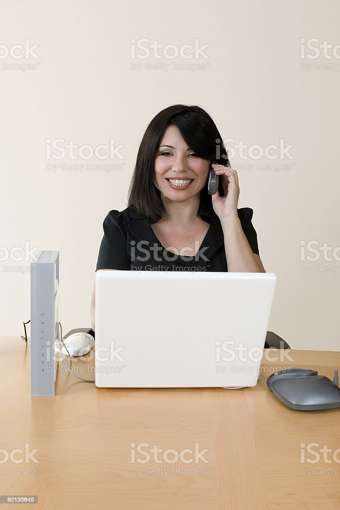 Wireless networking and voip royalty-free stock photo