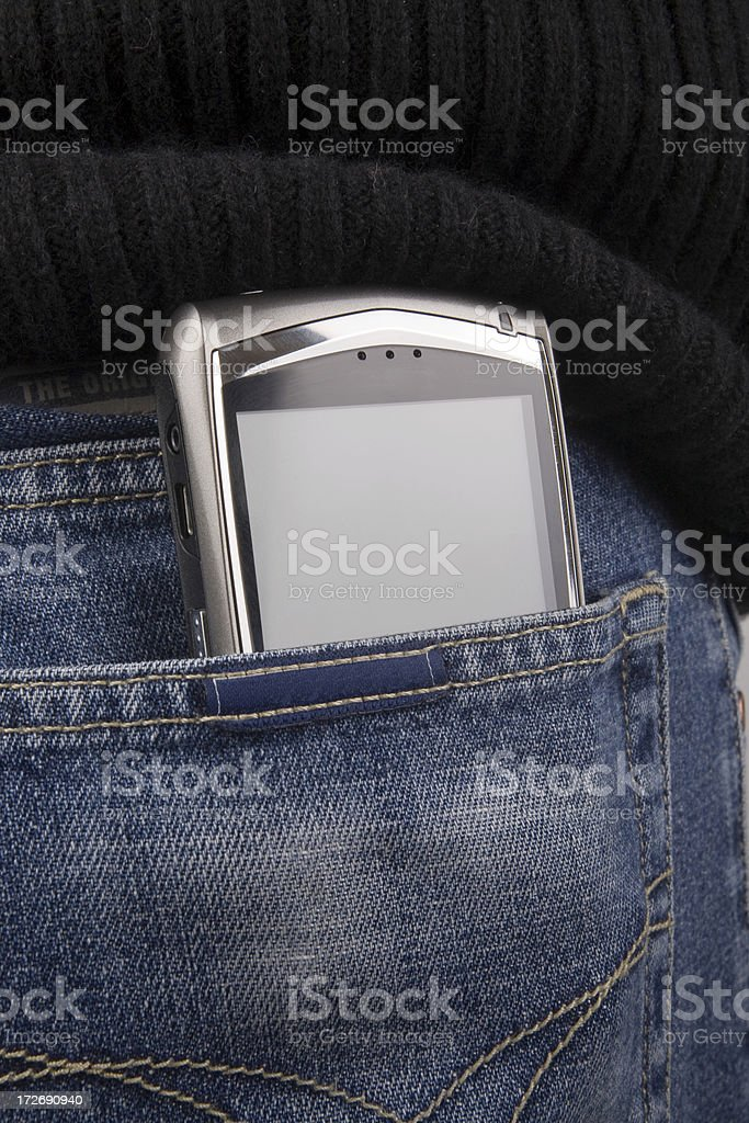 Wireless Pda in pocket royalty-free stock photo
