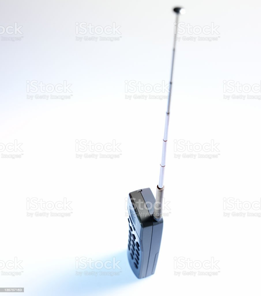 wireless phone on a white background stock photo