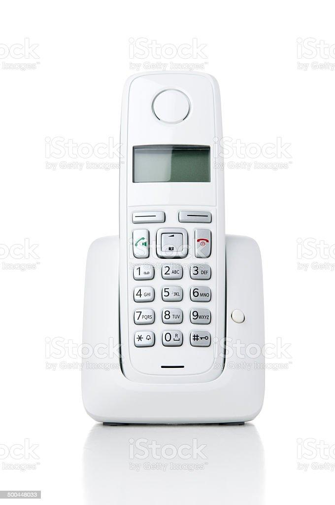 Wireless phone on white background stock photo