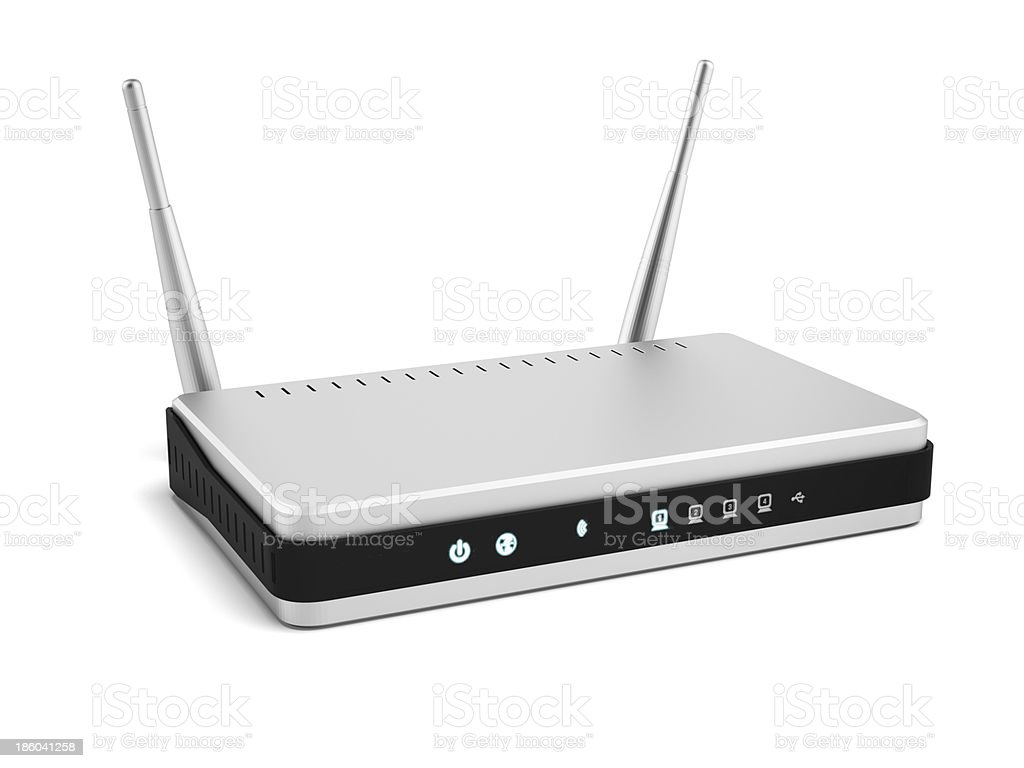 Wireless router stock photo