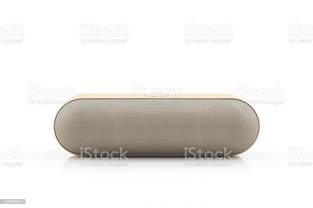 Wireless speaker for mobile phone, Bluetooth Speaker for smartphone. stock photo