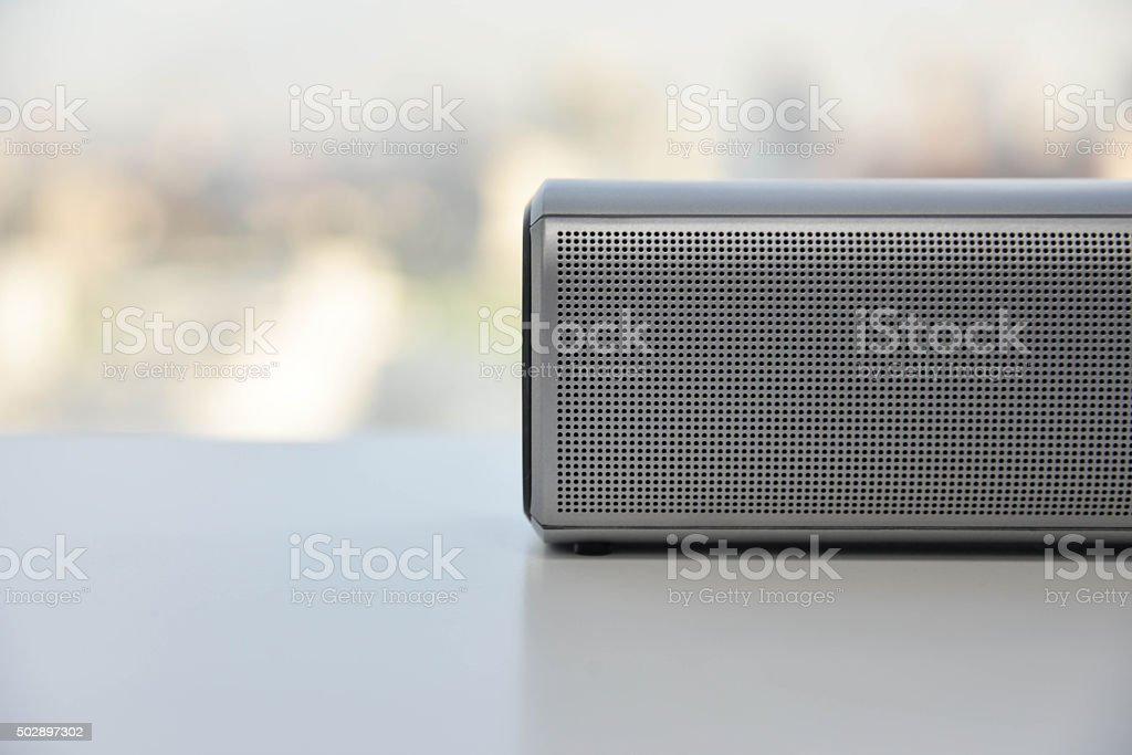 Wireless Speaker - New sound technology stock photo
