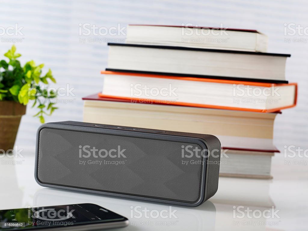 Wireless speaker stock photo