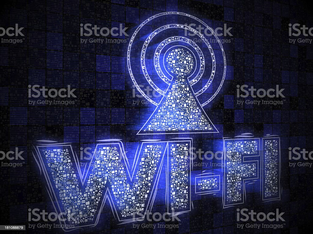 Wireless Technolog royalty-free stock vector art
