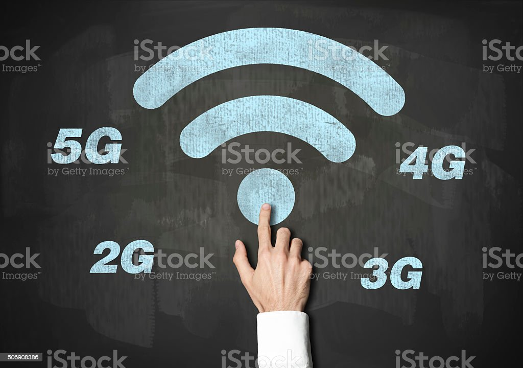 Wireless Technology / Blackboard concept (Click for more) stock photo