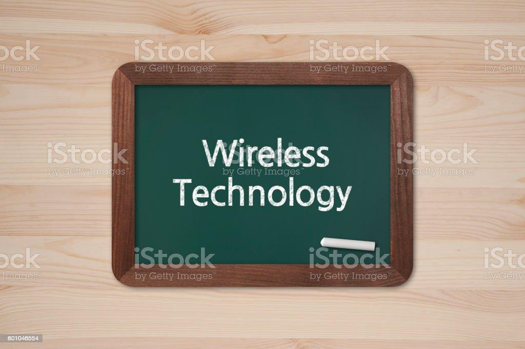 Wireless Technology - Business Chalkboard Background stock photo