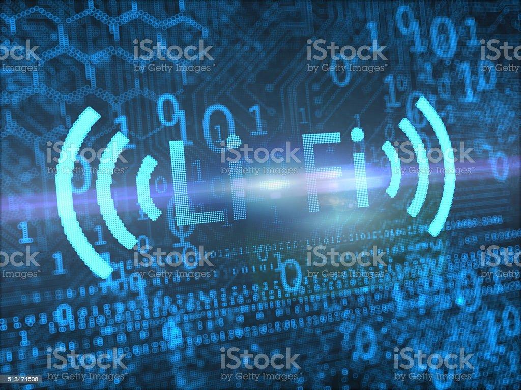 LI-FI Wireless Technology Concepts stock photo
