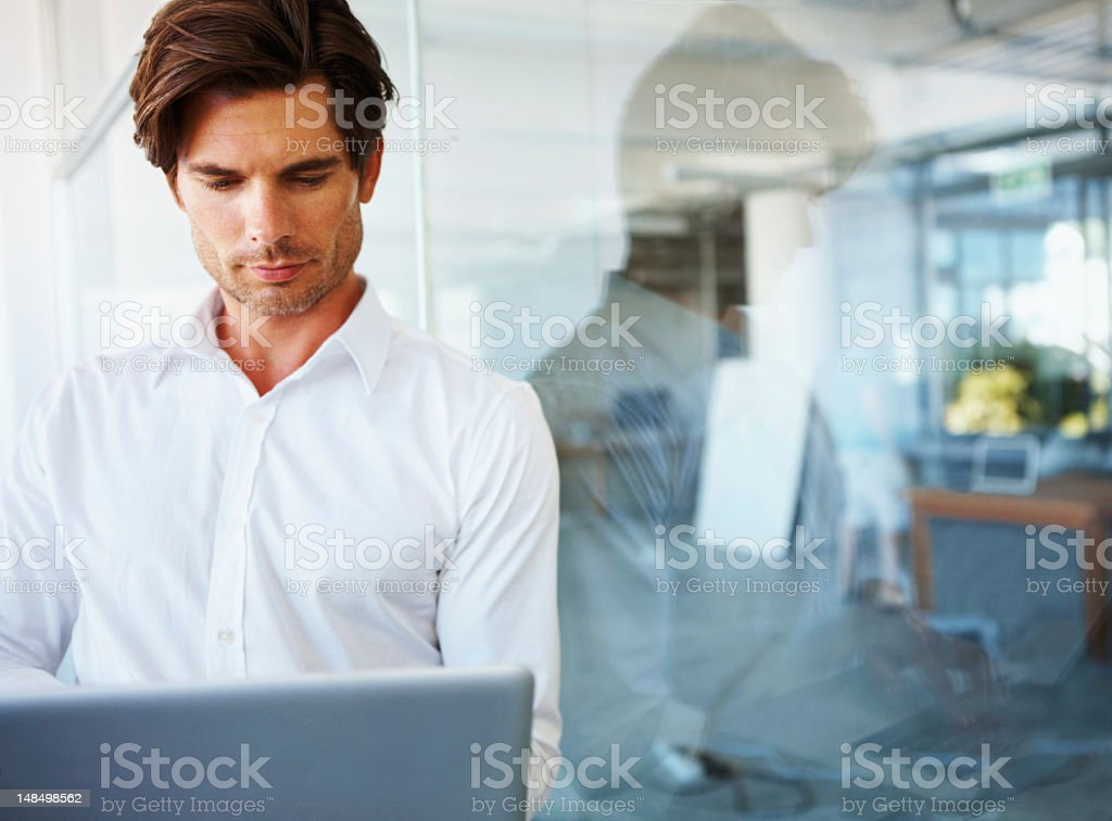 Wireless technology connecting the corporate world royalty-free stock photo