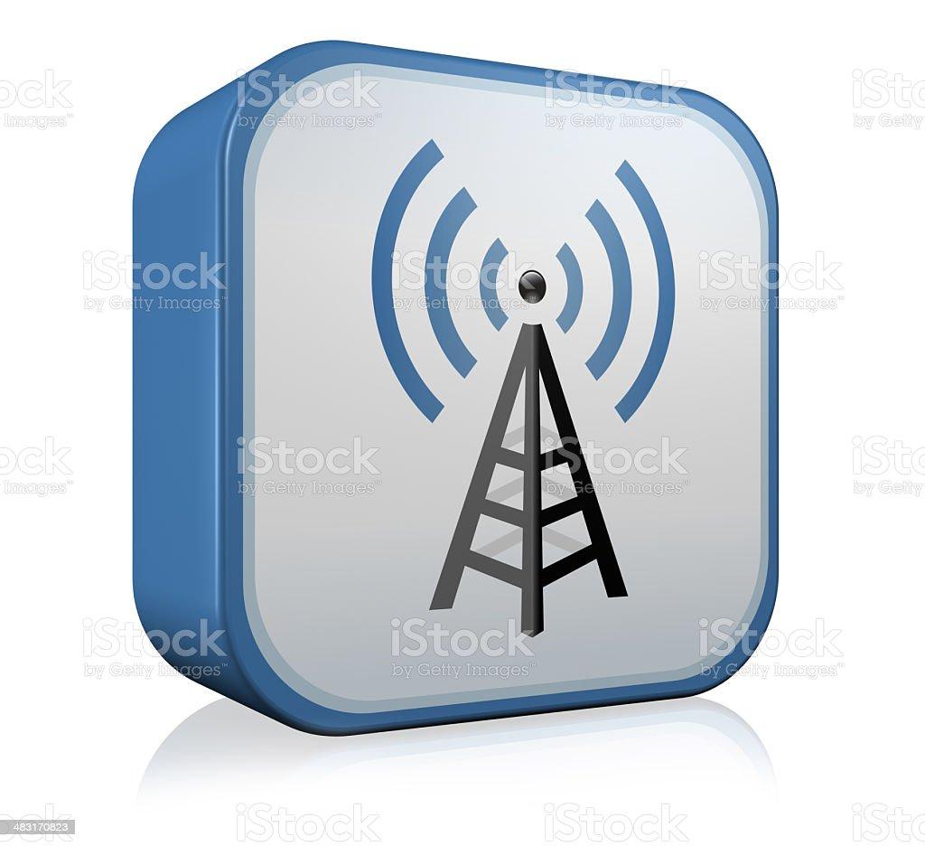 Wireless technology Icon royalty-free stock photo
