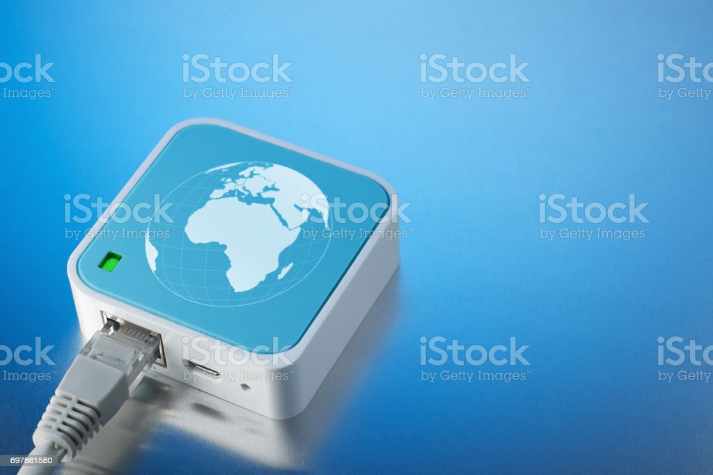 Wireless technology Wi-Fi. Internet on the radio channel. stock photo