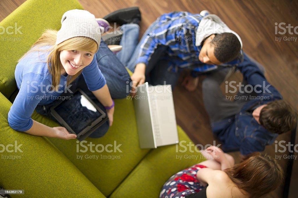 wireless teenagers royalty-free stock photo