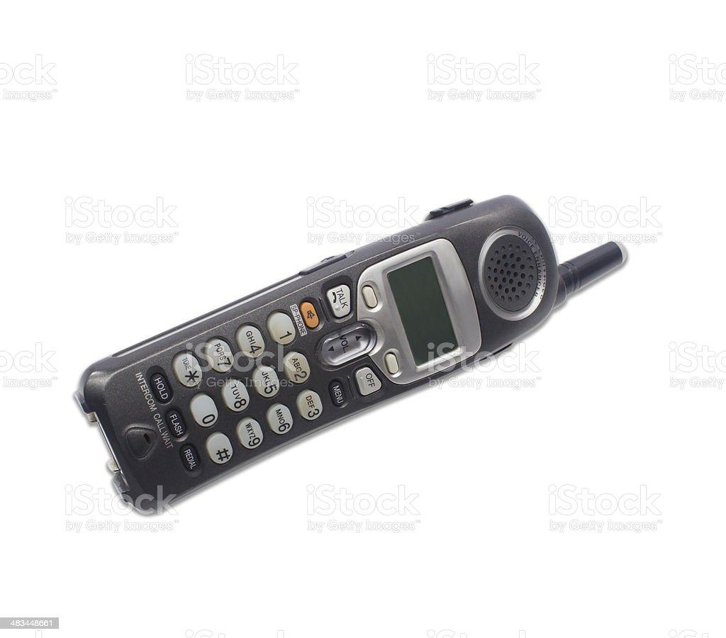 Wireless telephone isolated on white background stock photo