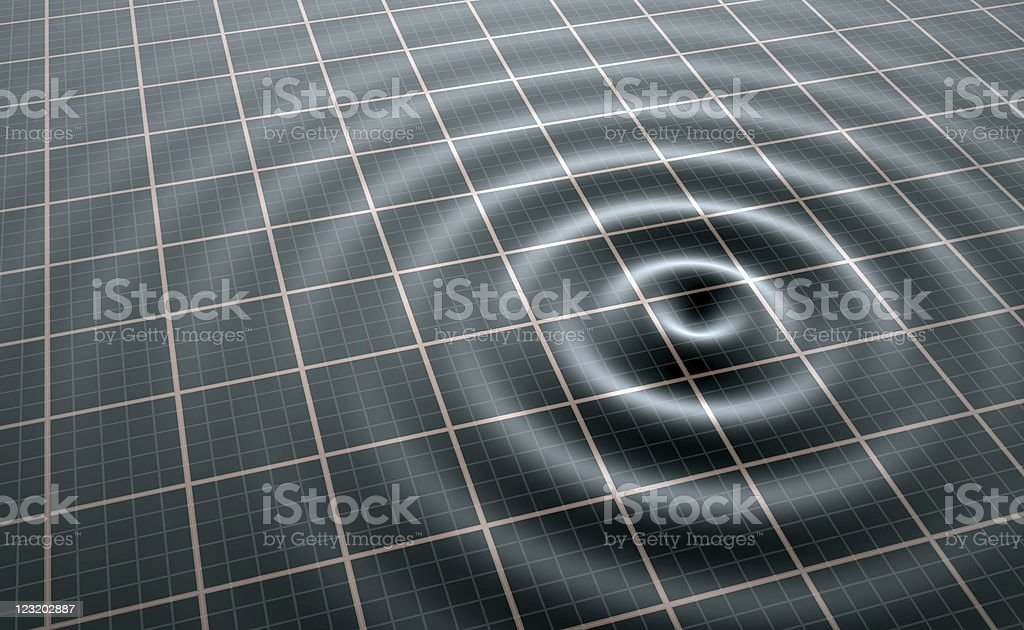 Wireless wave broadcast visualization stock photo