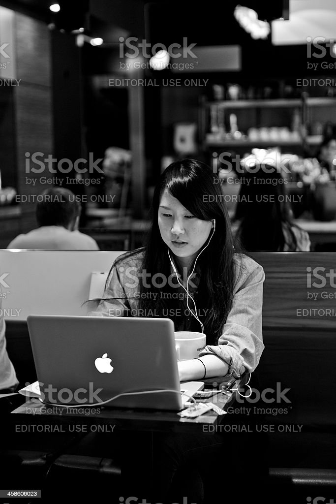 Wireless worker royalty-free stock photo